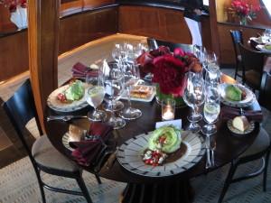Yacht Dining Menu San Francisco